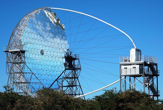 Telescopio LST-1. Tiene un espejo de 23 metros de diámetro y pesa 100 toneladas
