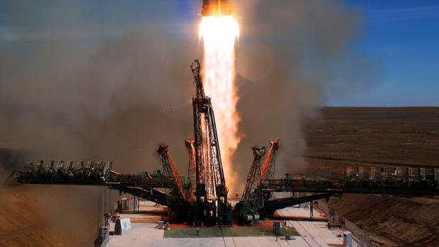 Lanzamiento de la Soyuz MS-10 desde el cosmódromo de Baikonur