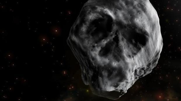 Ilustración del asteroide calavera