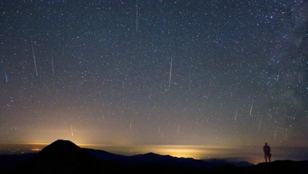 Fotografía tomada durante una llu via de estrellas