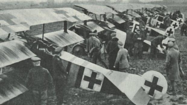 Fokker alemanes del escuadrón Jasta 26 en la Primera Guerra Mundial
