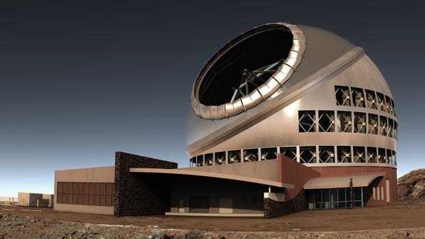 Representación del Telescopios de Treinta Metros (TMT). Será el más potente del hemisferio Norte