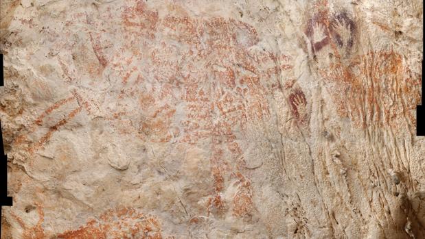 La pinturas figurativa más antigua del mundo, en Borneo, de un mínimo de 40.000 años