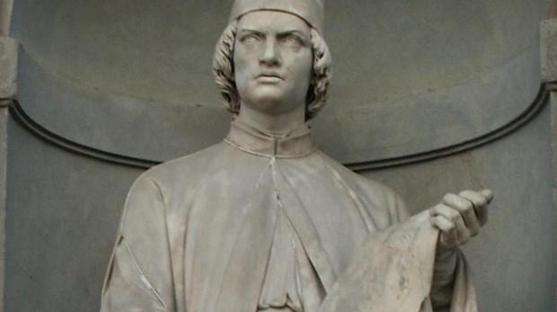 Leon Battista Alberti, arquitecto, secretario de tres Papas, humanista, tratadista, matemático y poeta italiano