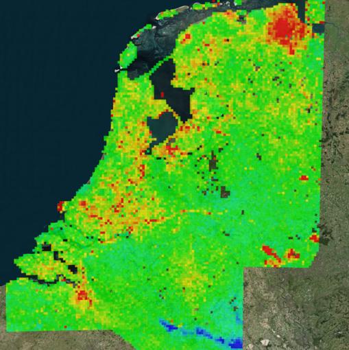 Mapa del suelo de Holanda presentado por el NCG