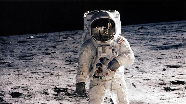 Neil Armstrong, a su llegada a la Luna en 1969