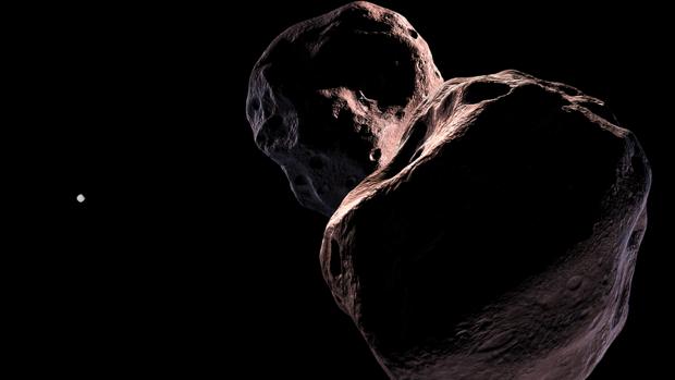 Representación ilustrativa de Ultima Thule, el objeto más distante de la Tierra explorado por la Humanidad