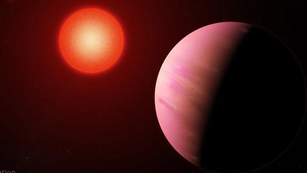 Ilustración del planeta recién descubierto llamado K2-288Bb