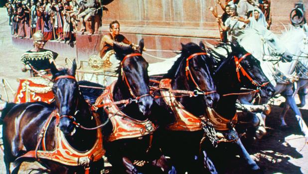 La famosa carrera de cuádrigas de «Ben-Hur» (1959)