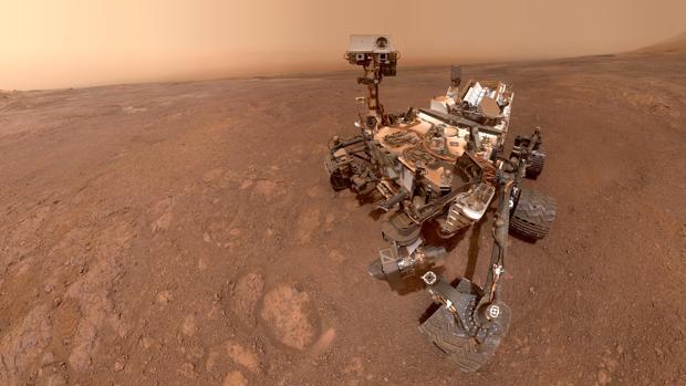 Un selfie tomado por el Curiosity en Marte