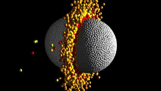 Choque de exoplanetas en órbita de la estrella Kepler-107