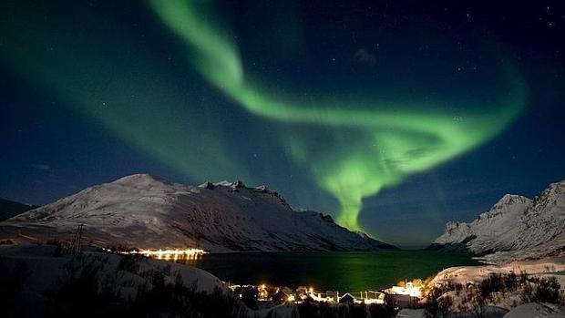 Aurora boreal en Tromsoe