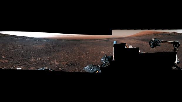 Panorámica tomada por la cámara Mastcam a bordo del Curiosity tomada el 19 de diciembre (Sol 2265).