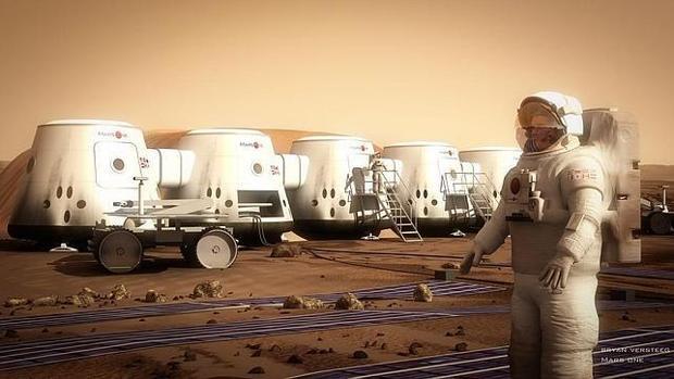Cápsulas en las que supuestamente viajarán los 100 candidatos del viaje suicida a Marte