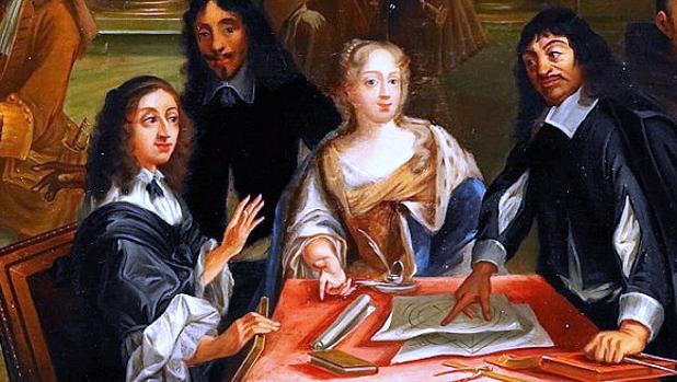 Descartes en la Corte de la reina Cristina de Suecia, Pierre Louis Dumesnil