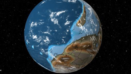 En la imagen se puede apreciar España en la parte inferior del globo