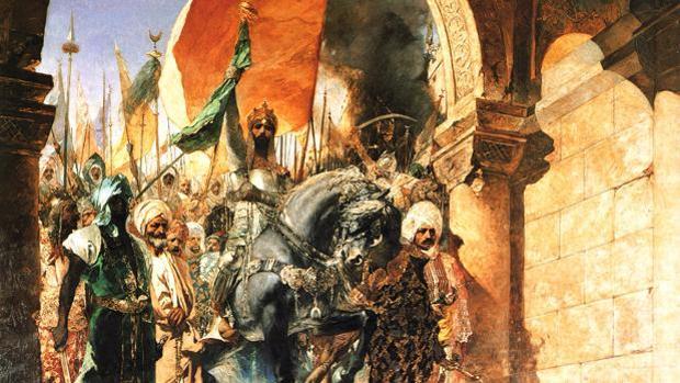 La entrada del sultan Mehmed II, en Constantinopla, el 29 de de mayo de 1453