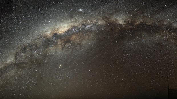 Plano de la Vía Láctea visto desde la Tierra