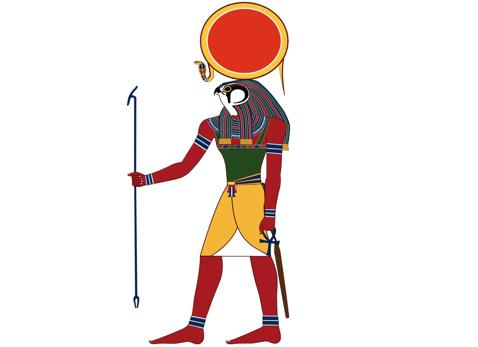Imagen del dios Ra, el primer dios moralizante considerado en este estudio