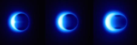 La teoría de la Relatividad dice que la sombra del agujero será circular, como en el centro
