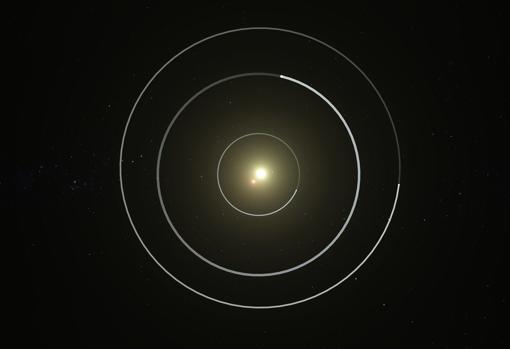 Recreación artística del sistema Kepler-47