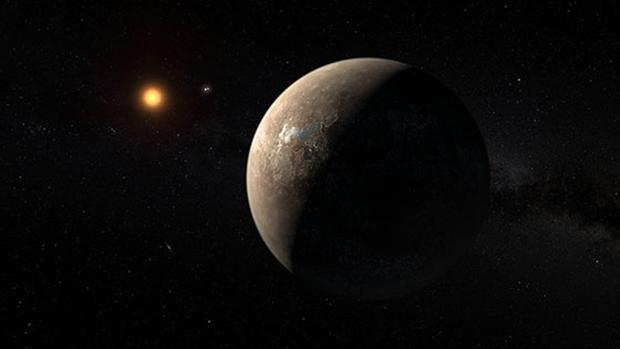 Recreación del exoplaneta Próxima b, que podría tener otro mundo cercano