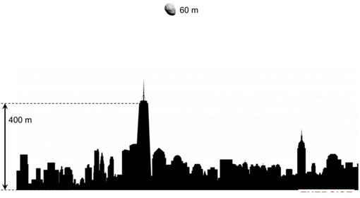 Fragmento del asteroide sobre Nueva York