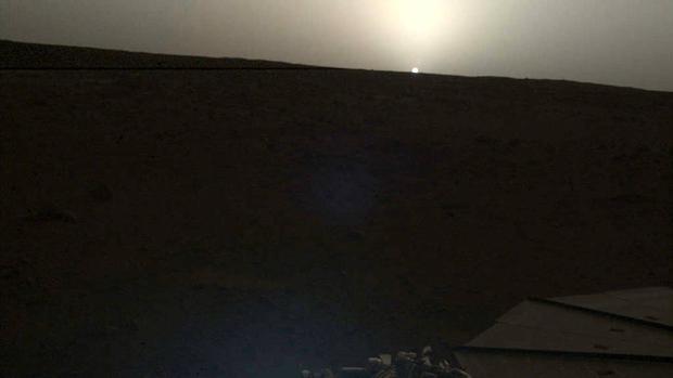 El atardecer de Marte, visto desde la sonda InSight de la NASA