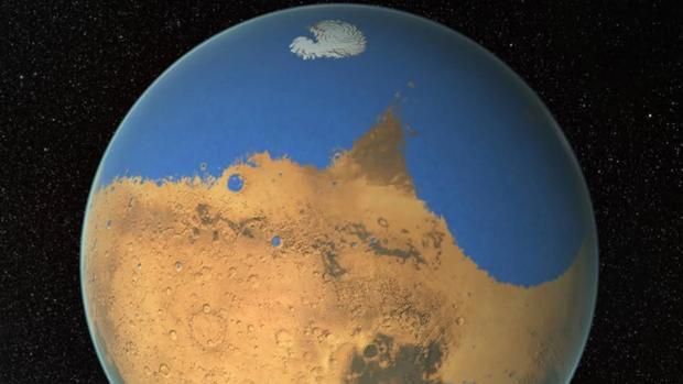 Este es el aspecto que el planeta debió de tener hace varios miles de millones de años