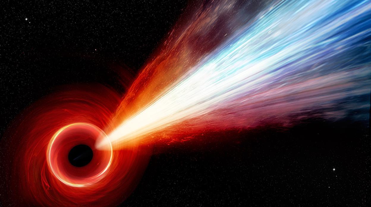 Resultado de imagen para El monstruoso agujero negro que dispara un «bombazo» a casi la velocidad de la luz