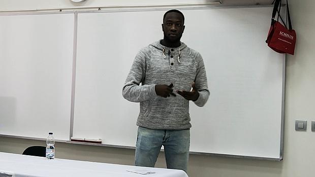 El activista contra el racismo Moha Gerehou