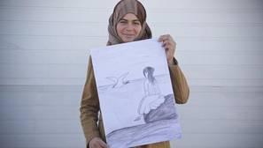 Una refugiada siria, en una campaña contra el matrimonio de menores