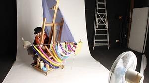 El «selfie» de Iker Serrano muestra las bambalinas de su trabajo