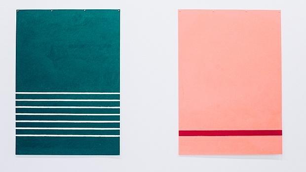 Dos de las obras de la serie «Carpet»