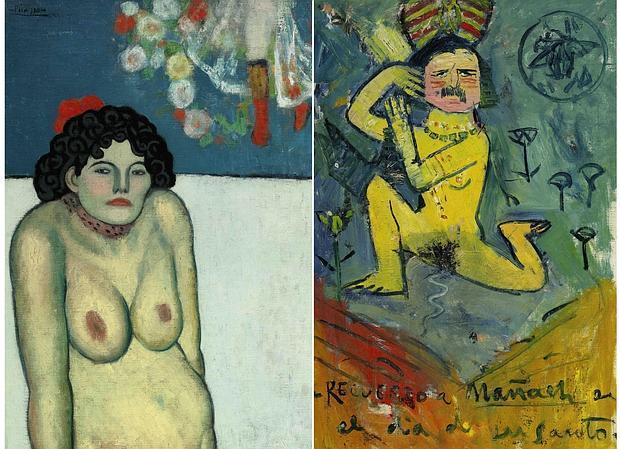 Anverso y reverso de «La Gommeuse», de Picasso