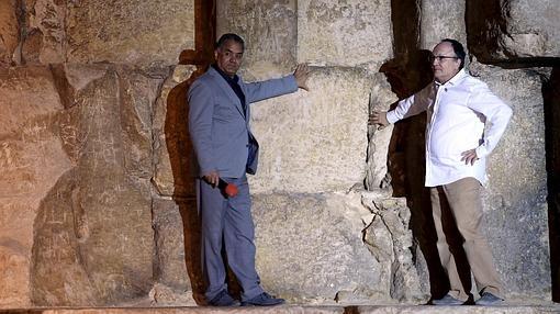 Al-Damati y Jean Claude Barre, durante sus explicaciones
