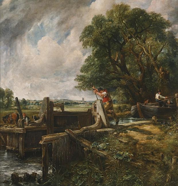 «La esclusa», de Constable, que sale a subasta el próximo día 9