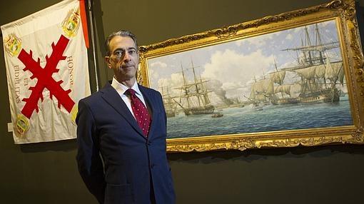 El comisario de la muestra, José Manuel Guerrero Acosta