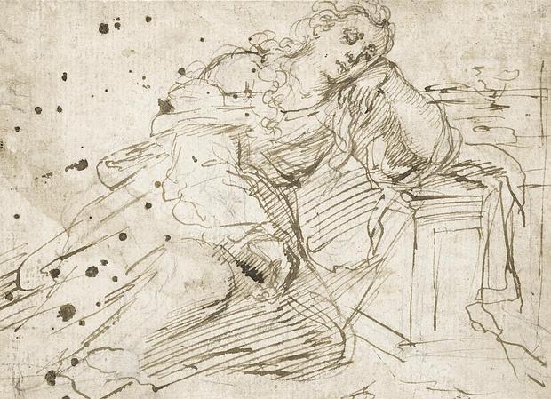 «Magdalena dormida sobre el sepulcro vacío de Cristo», de Murillo