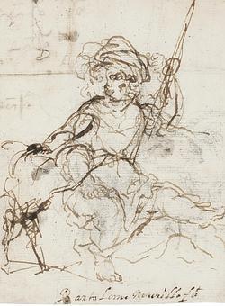 «El buen pastor niño, sentado con una oveja», de Murillo