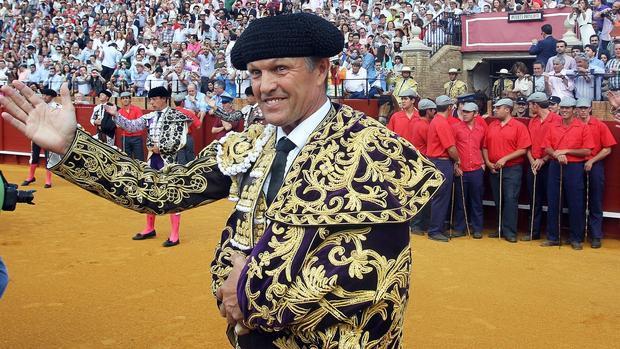 Juan Antonio Ruiz «Espartaco, en su reaparición en la Maestranza