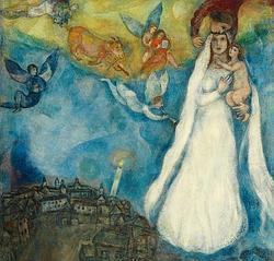 «La Virgen de la aldea», de Chagall