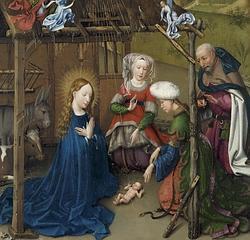 «La Adoración del Niño», de Jacques Daret