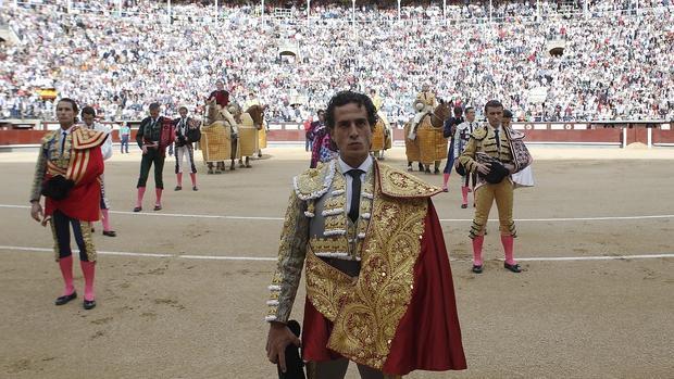Iván Fandiño, el Domingo de Ramos en la Monumental, con la plaza a reventar de expectación