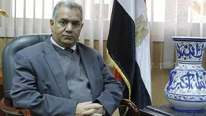 Mamdouh El Damaty, en su despacho de El Cairo durante la entrevista
