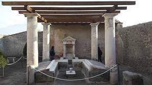 Una de las domus restauradas en Pompeya