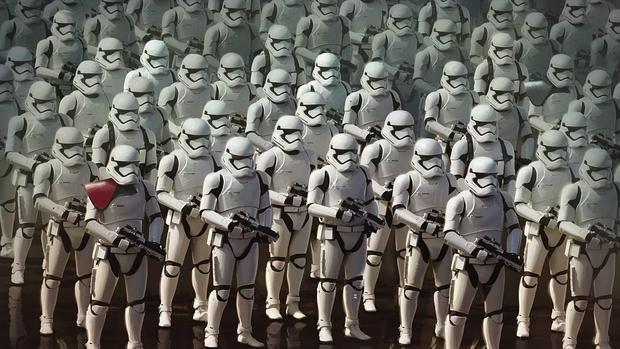 Las tropas imperiales dispuestas para el ataque