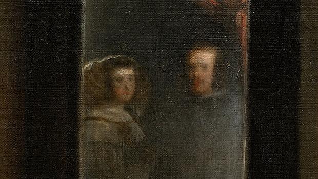 Reflejo de los Reyes en el espejo de Las Meninas de Velázquez