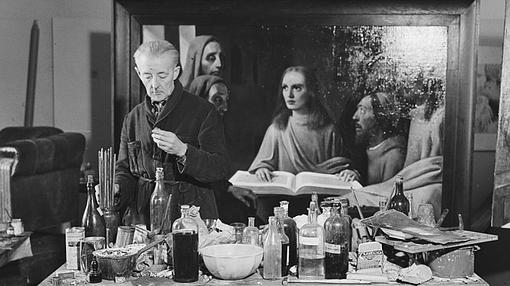 Van Meregeren pintó su última copia de Vermeer ante expertos