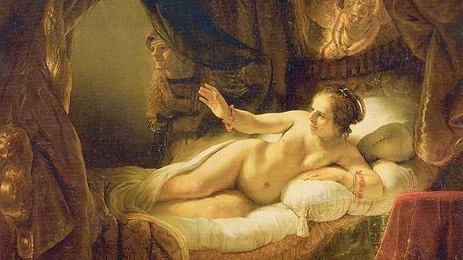 La Dánae de Rembrandt, repintada